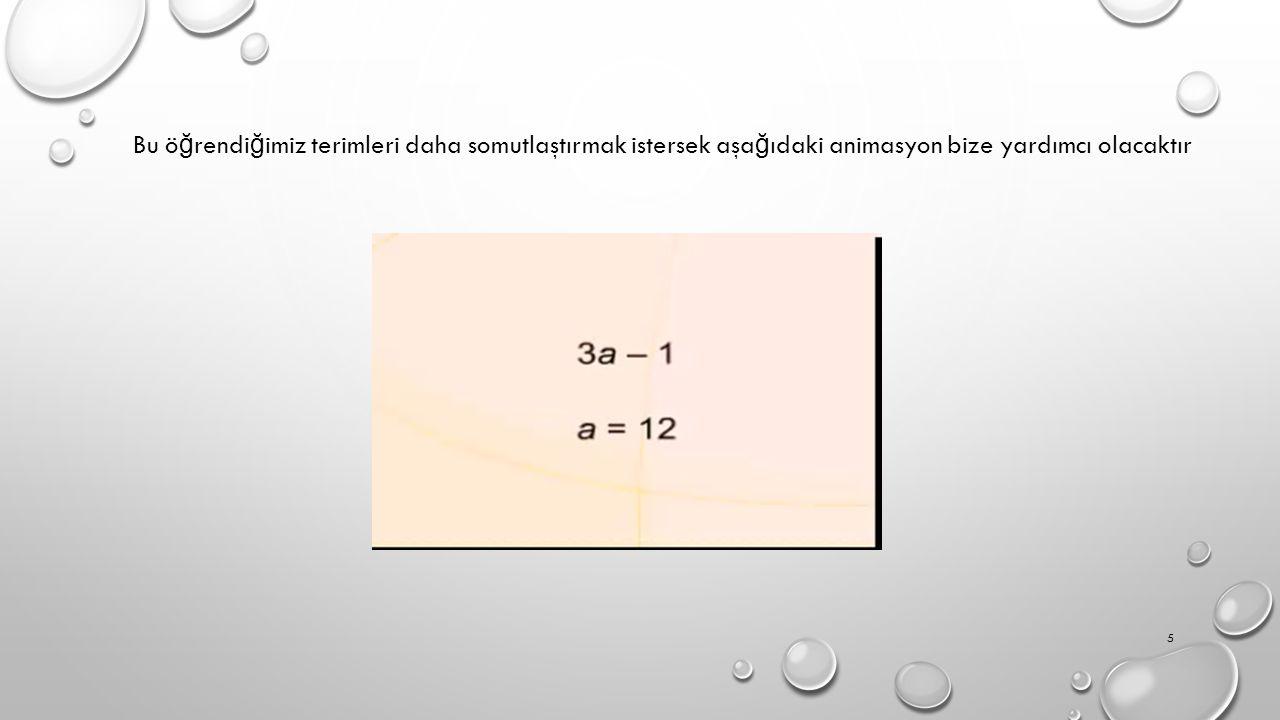 Cebirsel ifadelerle işlem yaparken, cebir karolarından yararlanılarak modelemmeler yapabiliriz Cebir karolarımızı aşa ğ ıdaki gibi belirleyelim: x 1 -x 6