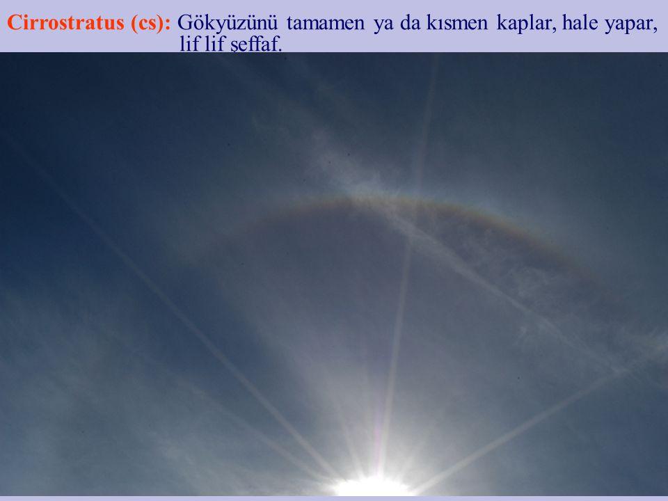 Orta bulutlar 1.Altocumulus 2.