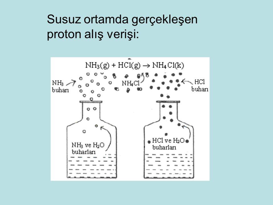 Susuz ortamda gerçekleşen proton alış verişi: