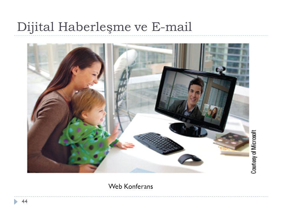 Dijital Haberleşme ve E-mail 44 Web Konferans