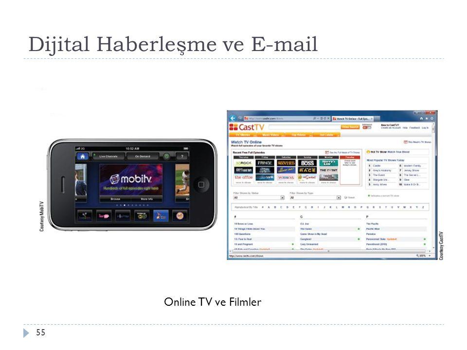 Dijital Haberleşme ve E-mail 55 Online TV ve Filmler