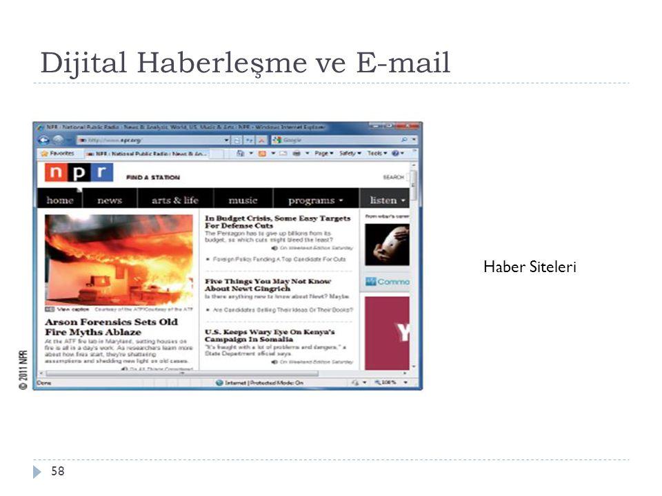 Dijital Haberleşme ve E-mail 58 Haber Siteleri