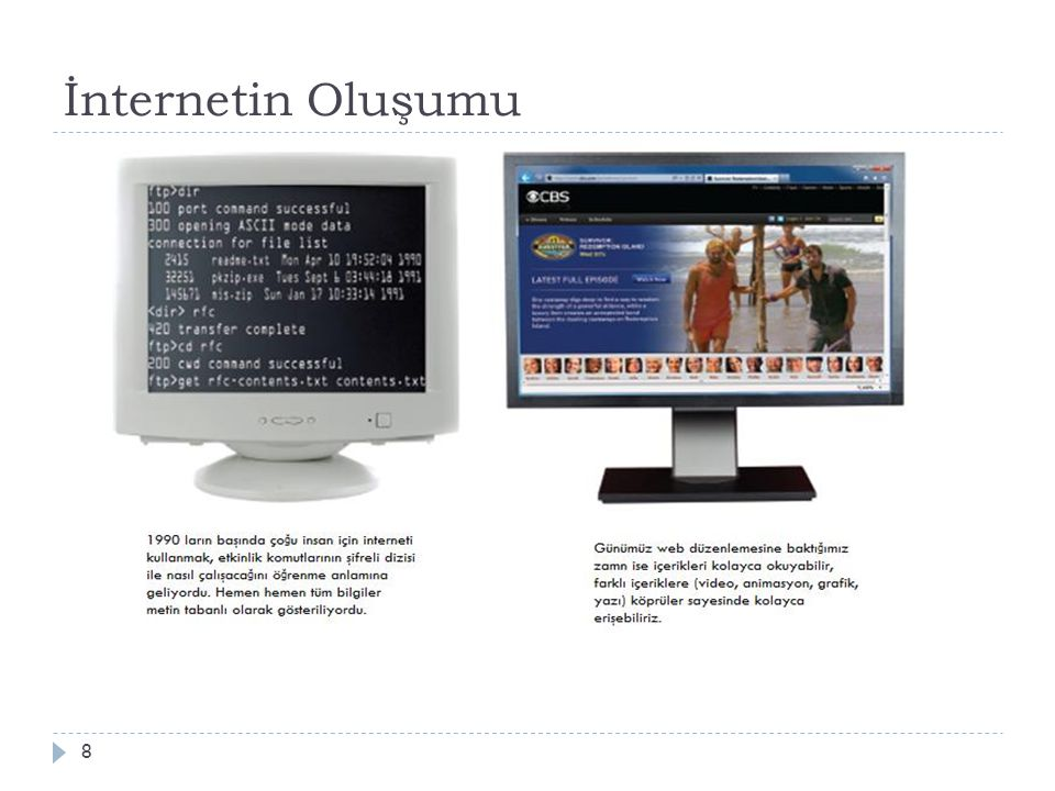 İnternet Kurulumu 19  Ba ğ lantı Çeşitleri ve İ nternet Erişimi  Bilgisayarınızın internete ba ğ lanabilmesi için erişiminizin olması gerekir.