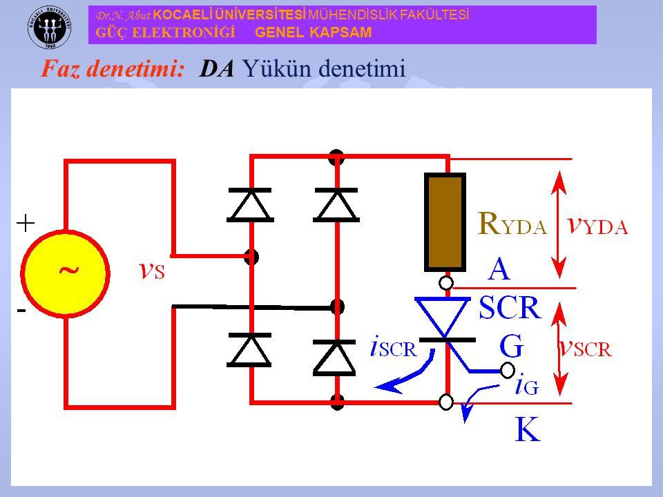 13 Faz denetimi: u Faz denetim devreleri, genelde bir tristör ve bir doğrultucu ünitesinden oluşmakta ve tek fazlı bir yükü hem DA ve hem de AA olarak