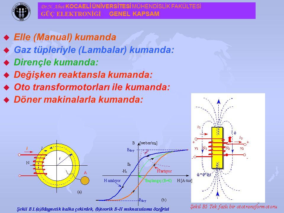 7 u Güç elektroniği gelişmesinden önce, güç denetimi klasik yöntemler kullanılmasına karşılık, yarıiletken teknolojisinin gelişmesiyle yerini, güç ele