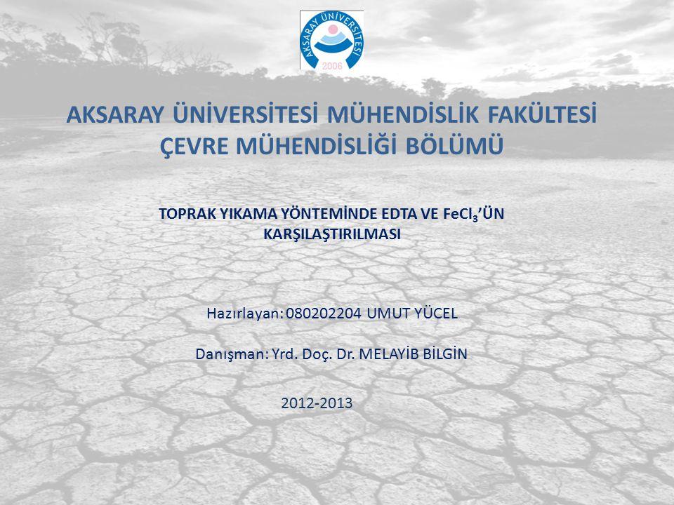 Aksaray Üniversitesi Mühendislik Uygulamaları 2 21 Kirletilmiş topraklar için kirlilik yükleri; 1.