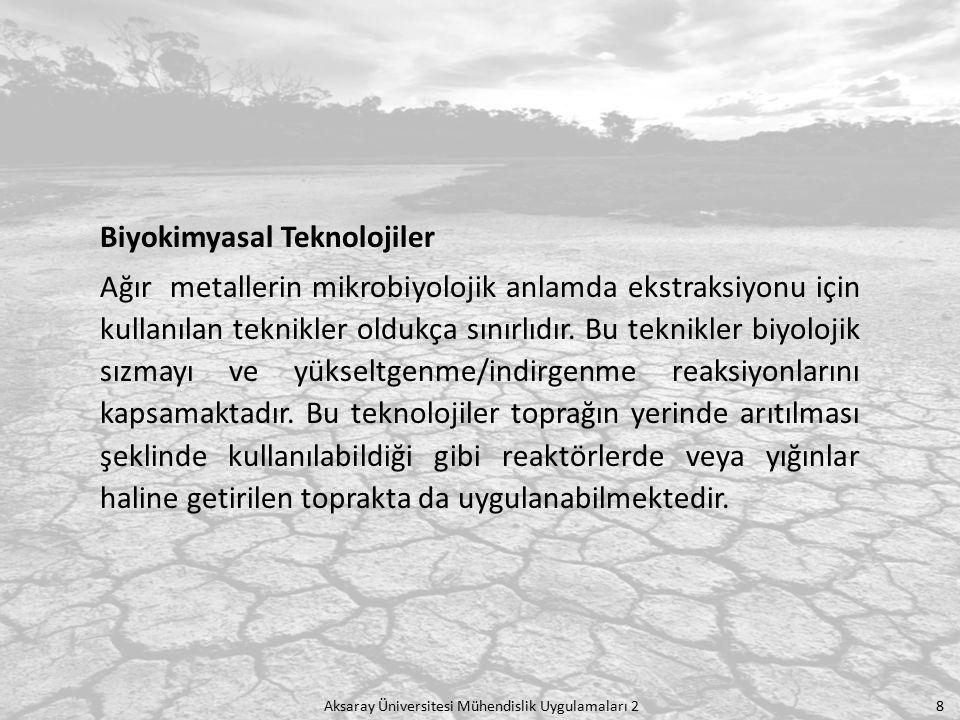 Aksaray Üniversitesi Mühendislik Uygulamaları 2 19 pH'larına bakılan numuneler Toprak Kirliliği ve Kontrolü Yönetmeliğinde yer alan pH'larına göre kirli toprak alt ve üst sınırlarına bakılarak değerlendirildi.