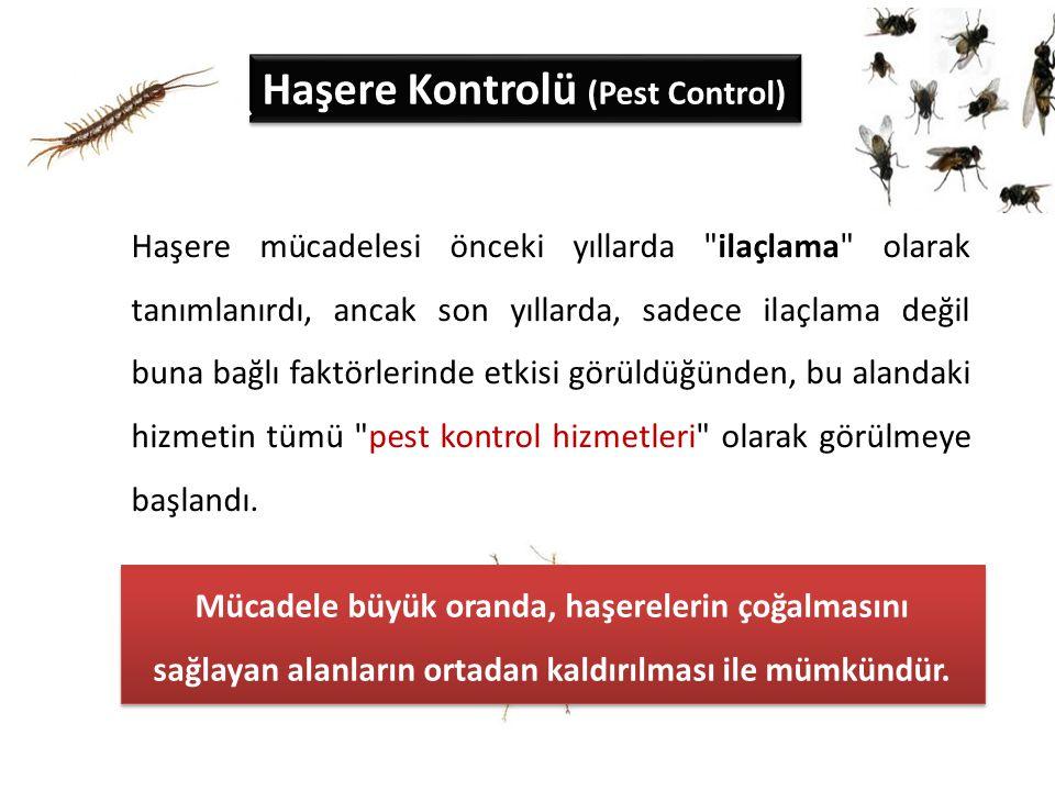 Haşere Kontrolü (Pest Control) Haşere mücadelesi önceki yıllarda