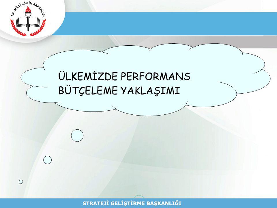 Kaynak İhtiyacının Belirlenmesi Performans Hedefinin Kaynak İhtiyacı performans hedefine ulaşmak amacıyla gerçekleştirilecek faaliyet maliyetlerinin toplamından oluşur