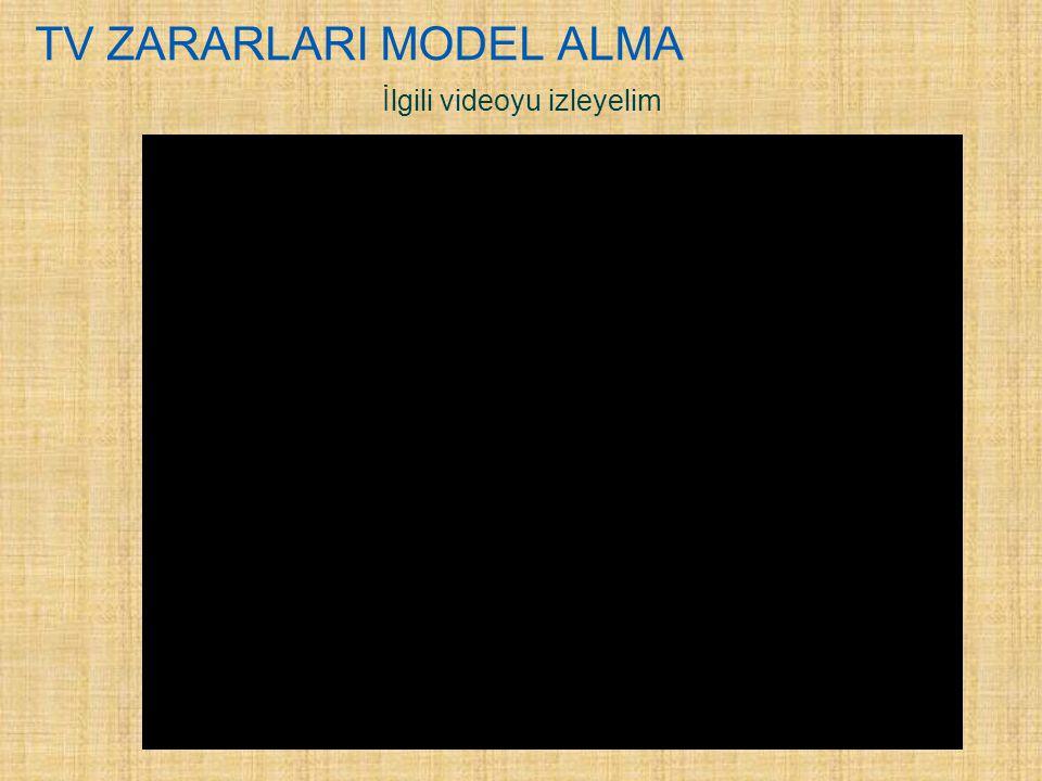 TV ZARARLARI MODEL ALMA İlgili videoyu izleyelim