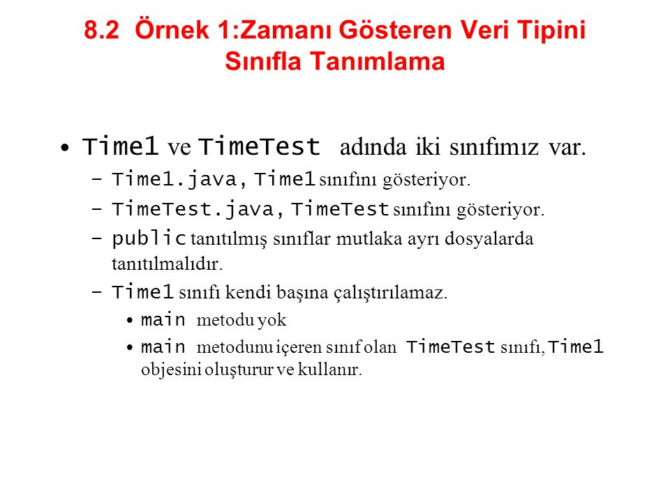 TimeTest1.java 27 // set time with invalid values; append updated time to output 28 time.setTime( 99, 99, 99 ); 29 output += \n\nAfter attempting invalid settings: + 30 \nUniversal time: + time.toUniversalString() + 31 \nStandard time: + time.toStandardString(); 32 33 JOptionPane.showMessageDialog( null, output, 34 Testing Class Time1 , JOptionPane.INFORMATION_MESSAGE ); 35 36 System.exit( 0 ); 37 38 } // end main 39 40 } // end class TimeTest1
