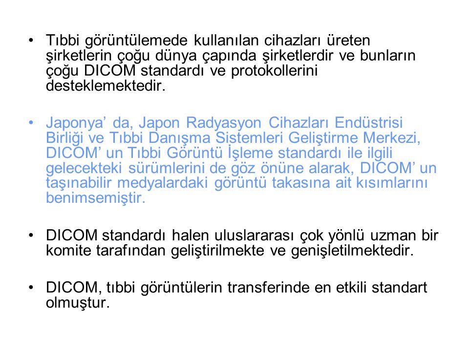 Tıbbi görüntülemede kullanılan cihazları üreten şirketlerin çoğu dünya çapında şirketlerdir ve bunların çoğu DICOM standardı ve protokollerini desteklemektedir.