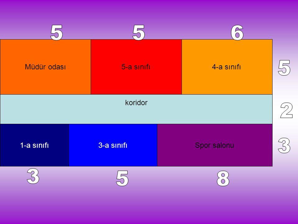 koridor Müdür odası5-a sınıfı4-a sınıfı 1-a sınıfı3-a sınıfıSpor salonu