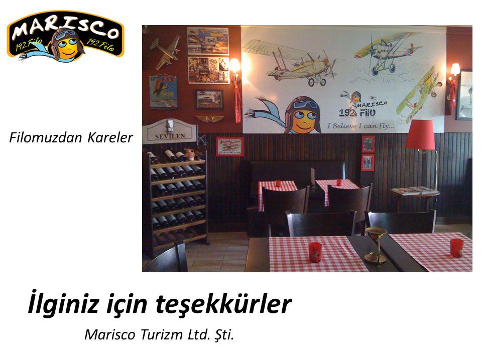 İlginiz için teşekkürler Marisco Turizm Ltd. Şti.