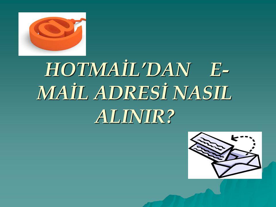 MSN Hesabı Nasıl Açılır.