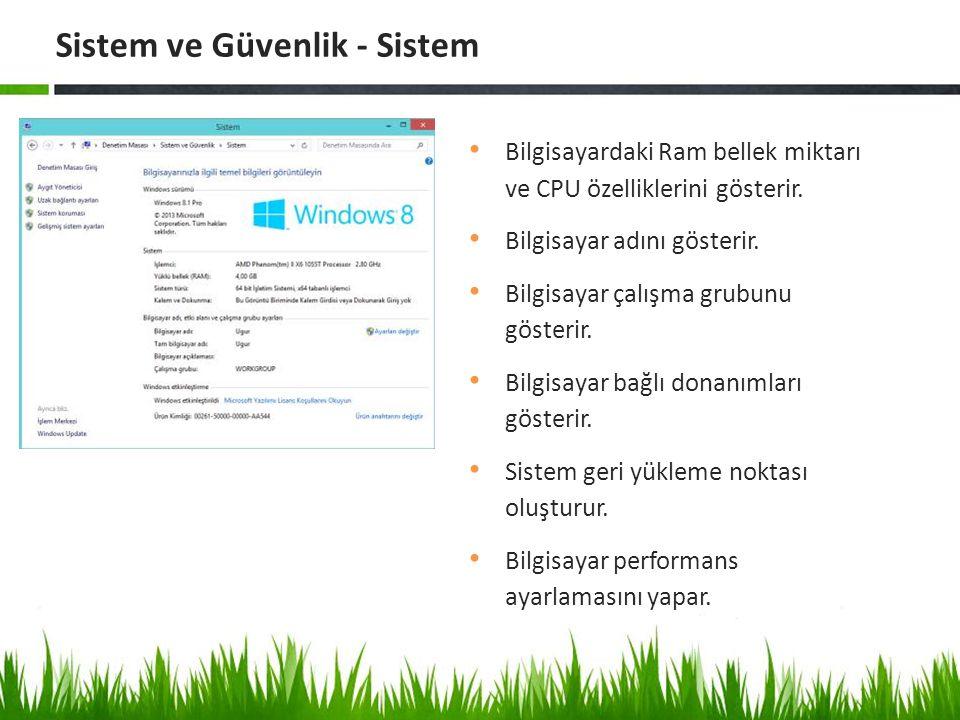 Windows un kullandığı ses efektlerini düzenlemek için gerekli her türlü seçeneğe yer verilmiştir.