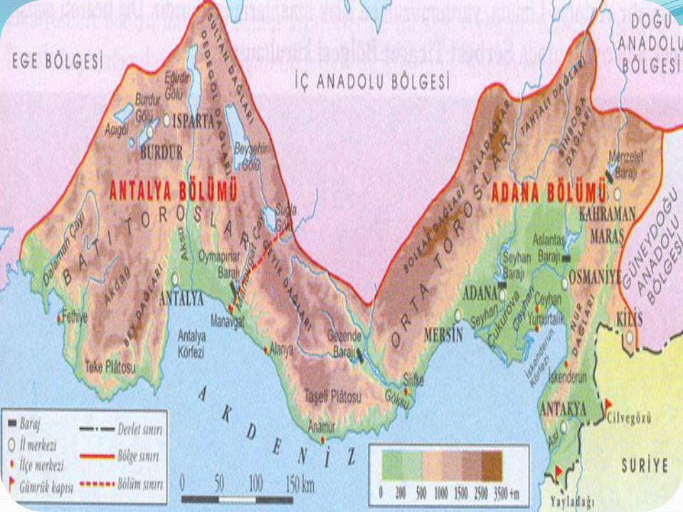 Bu topraklar, Marmara Bölgesi'nin güney kesimi ile Ege Bölümü ile Akdeniz Bölgesi'nin tamamında görülmektedir.