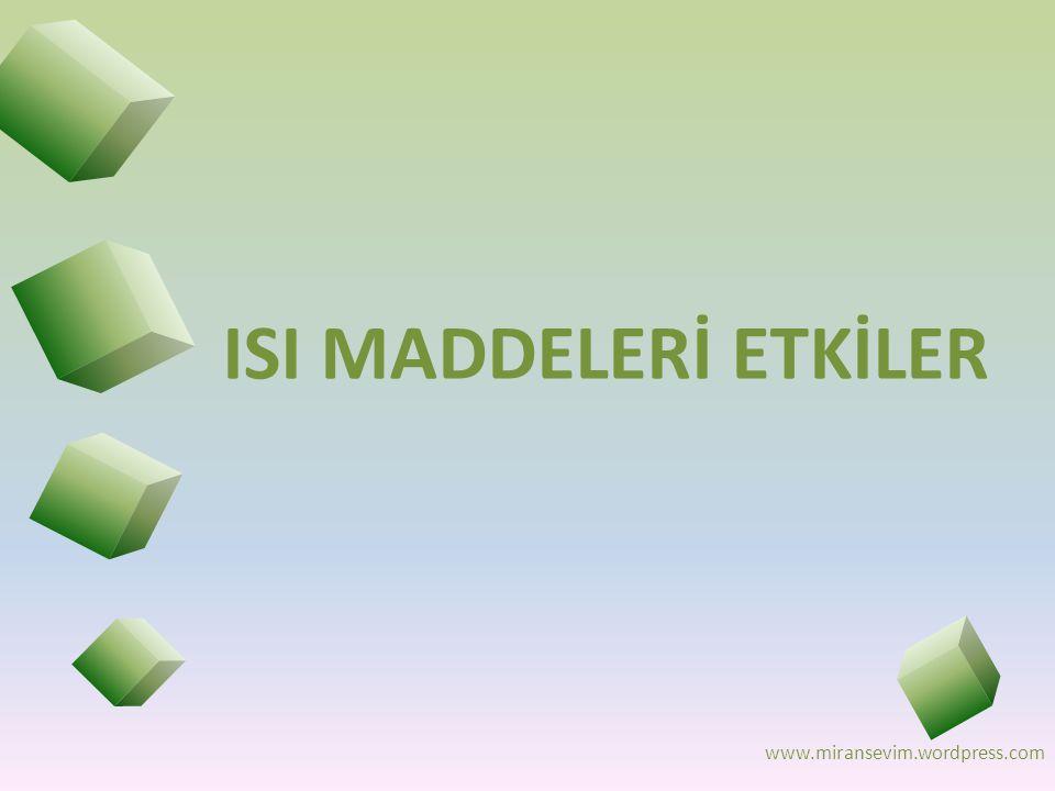 www.miransevim.wordpress.com ISI MADDELERİ ETKİLER