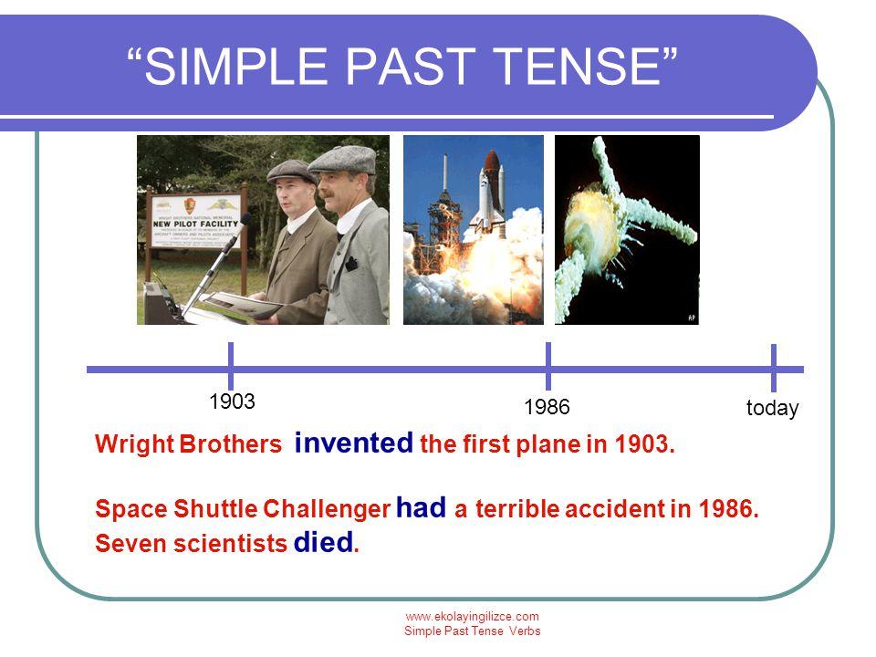 www.ekolayingilizce.com Simple Past Tense Verbs SIMPLE PAST TENSE ŞİMDİ CANER İLE İLGİLİ CÜMLELER YAPALIM: Caner was born in 1976 in Burdur.