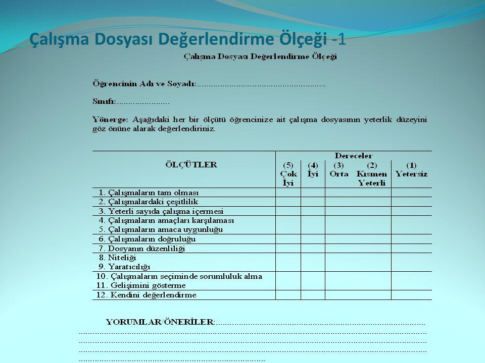 Çalışma Dosyası Değerlendirme Ölçeği -1