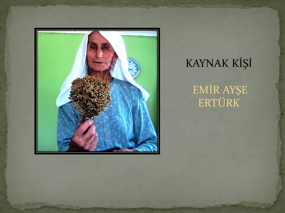 KAYNAK KİŞİ EMİR AYŞE ERTÜRK