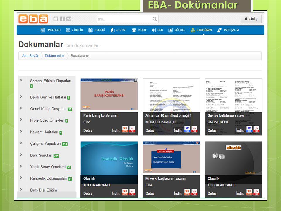 EBA- Dokümanlar
