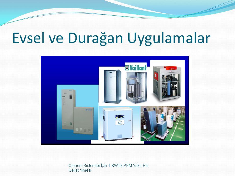 Evsel ve Durağan Uygulamalar Otonom Sistemler İçin 1 KW'lık PEM Yakıt Pili Geliştirilmesi