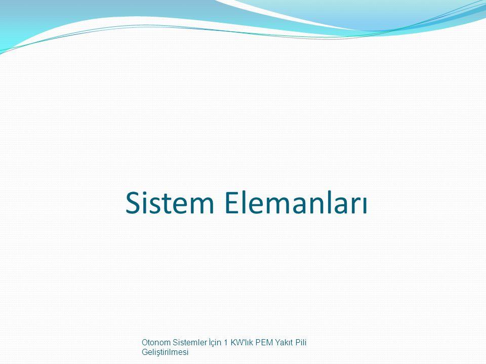 Sistem Elemanları Otonom Sistemler İçin 1 KW'lık PEM Yakıt Pili Geliştirilmesi
