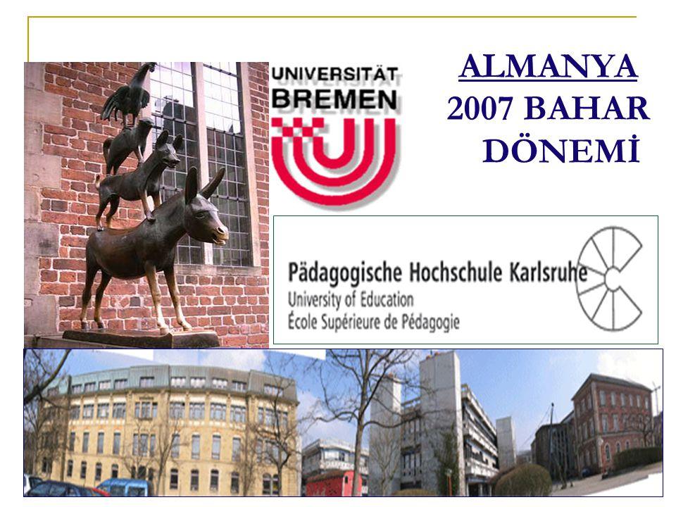 ALMANYA 2007 BAHAR DÖNEMİ