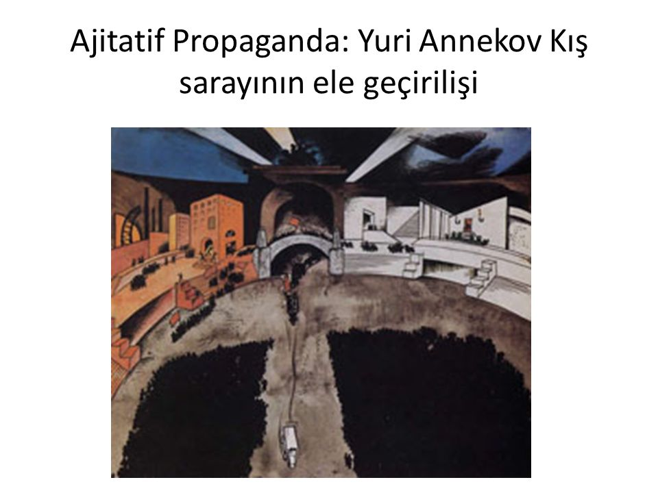 Ajitatif Propaganda: Yuri Annekov Kış sarayının ele geçirilişi