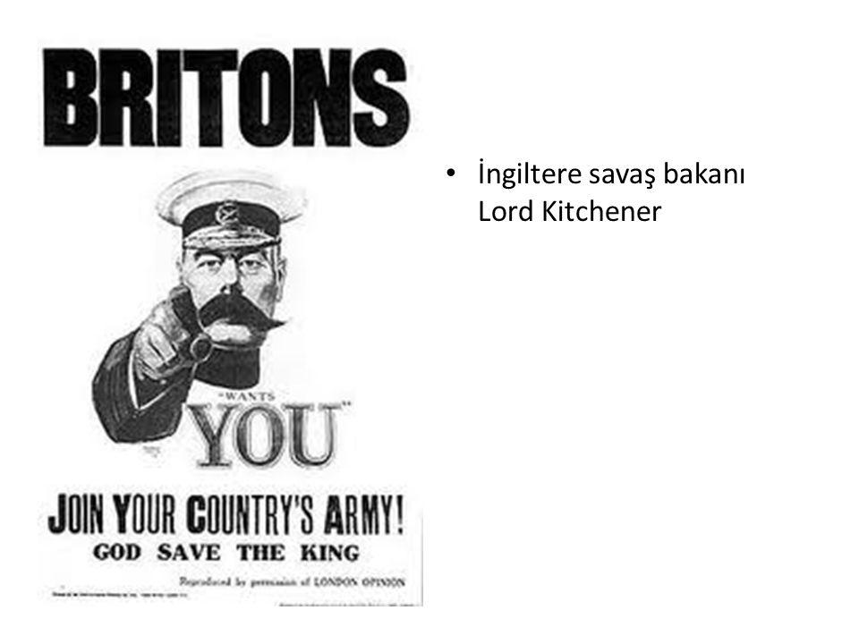 İngiltere savaş bakanı Lord Kitchener