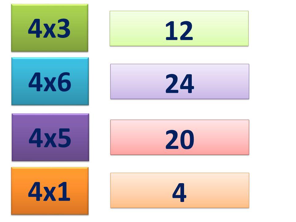 4x3 12 4x6 4x5 4x1 24 20 4 4