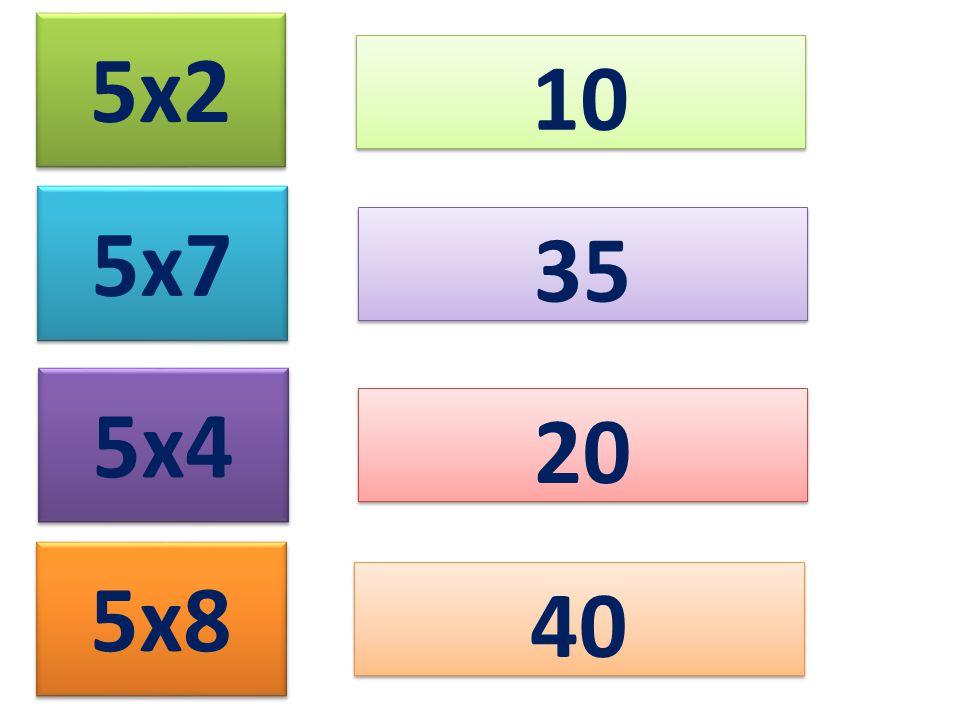 5x2 10 5x7 5x4 5x8 35 20 40