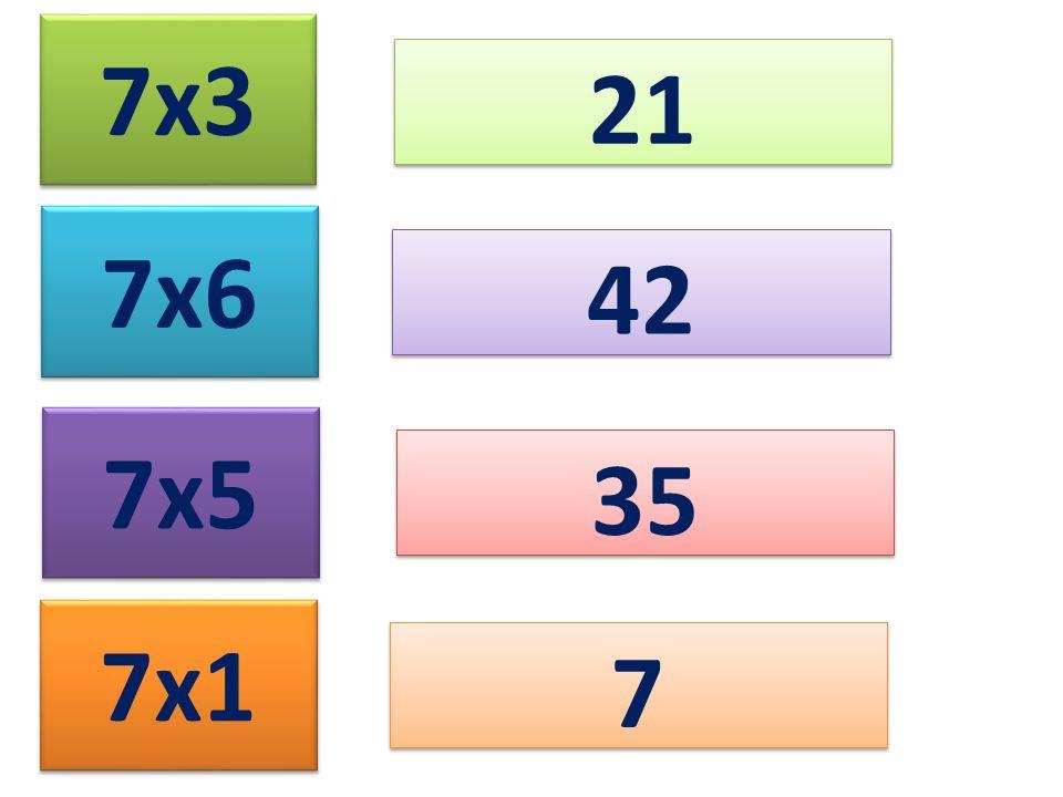 7x3 21 7x6 7x5 7x1 42 35 7 7
