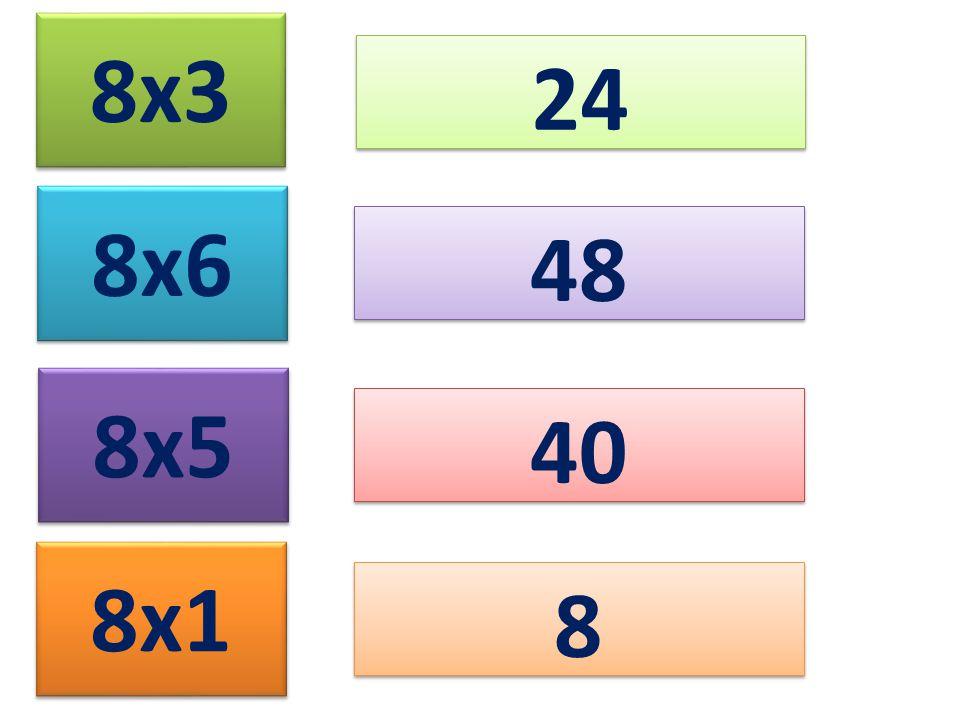 8x3 24 8x6 8x5 8x1 48 40 8 8