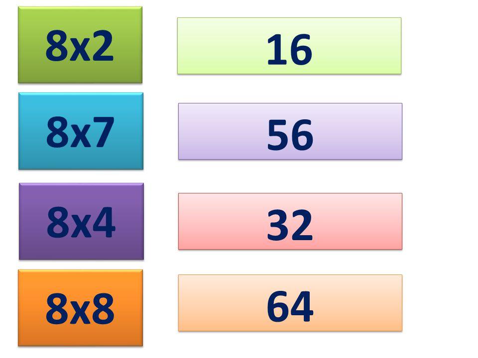 8x2 16 8x7 8x4 8x8 56 32 64