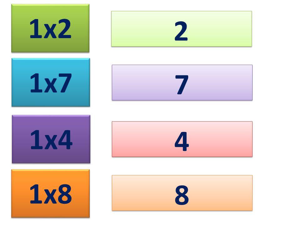 1x2 2 2 1x7 1x4 1x8 7 7 4 4 8 8
