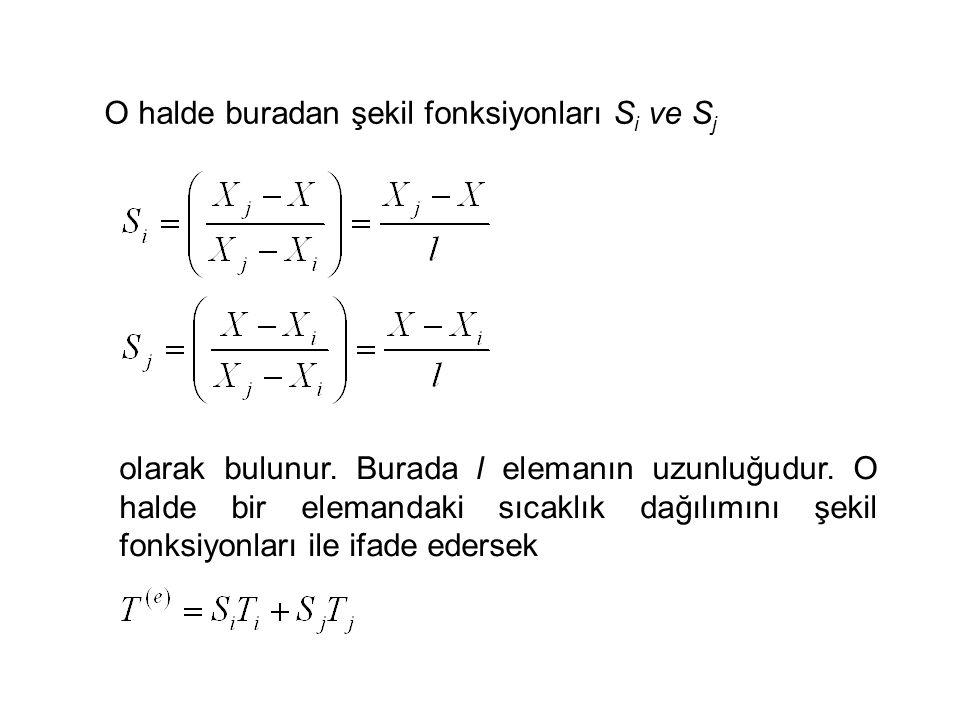 O halde buradan şekil fonksiyonları S i ve S j olarak bulunur.