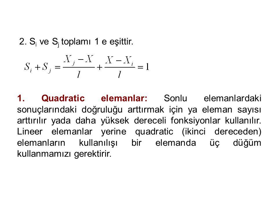 2.S i ve S j toplamı 1 e eşittir. 1.