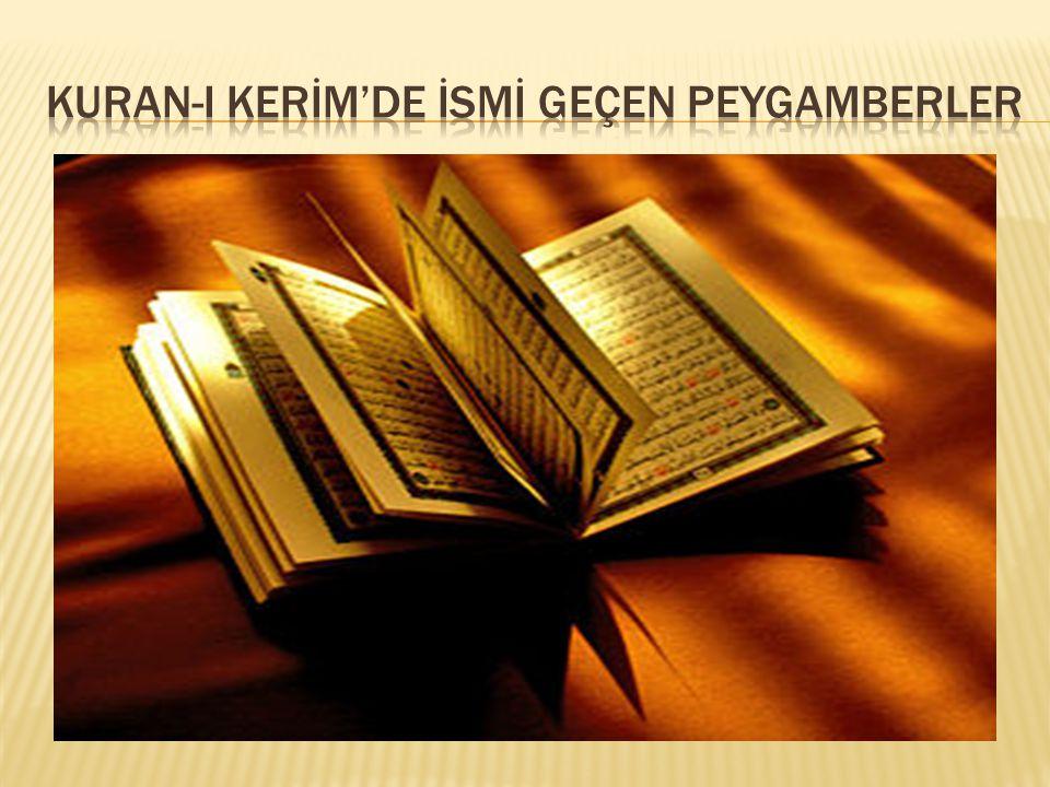  Yemen den gelıp Mekke ve cıvarına yerlesen Cürhüm kabılesıne gönderılen ve Muhammed aleyhısselamın dedelerınden olan bır peygamberdır.