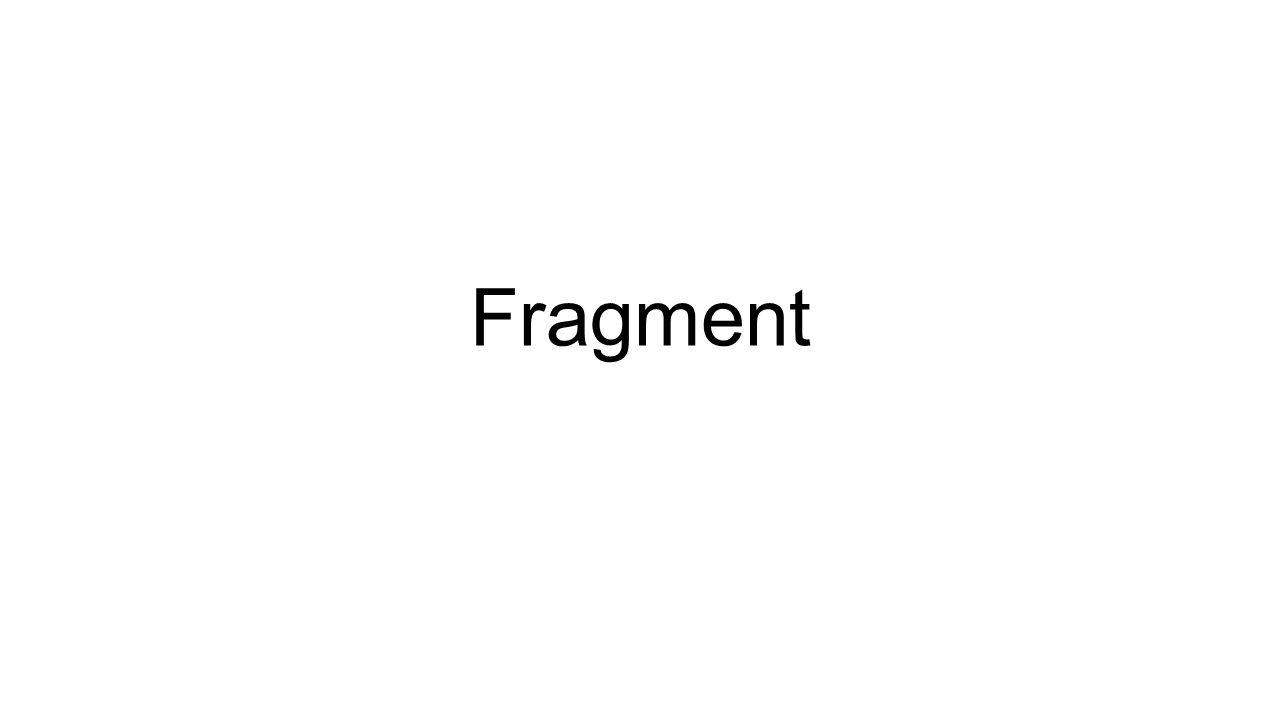 Activity layout'a fragment classlarinin ekliyoruz