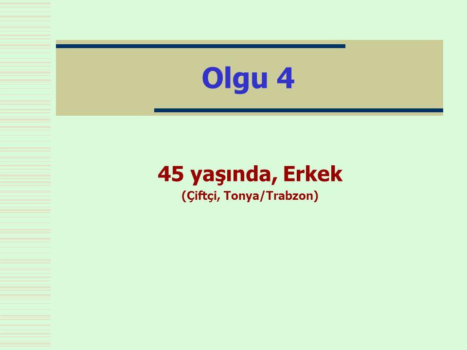 Olgu 4 45 yaşında, Erkek (Çiftçi, Tonya/Trabzon)