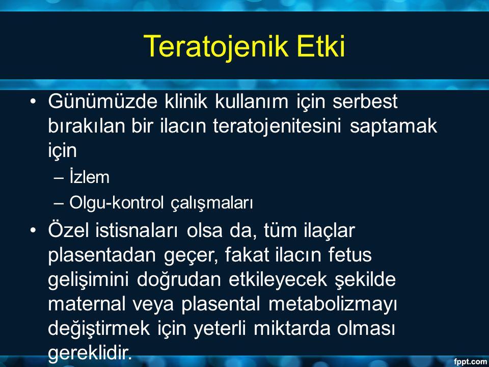 Teratojen İlaç Kullanımı Hangi Koşullarda.