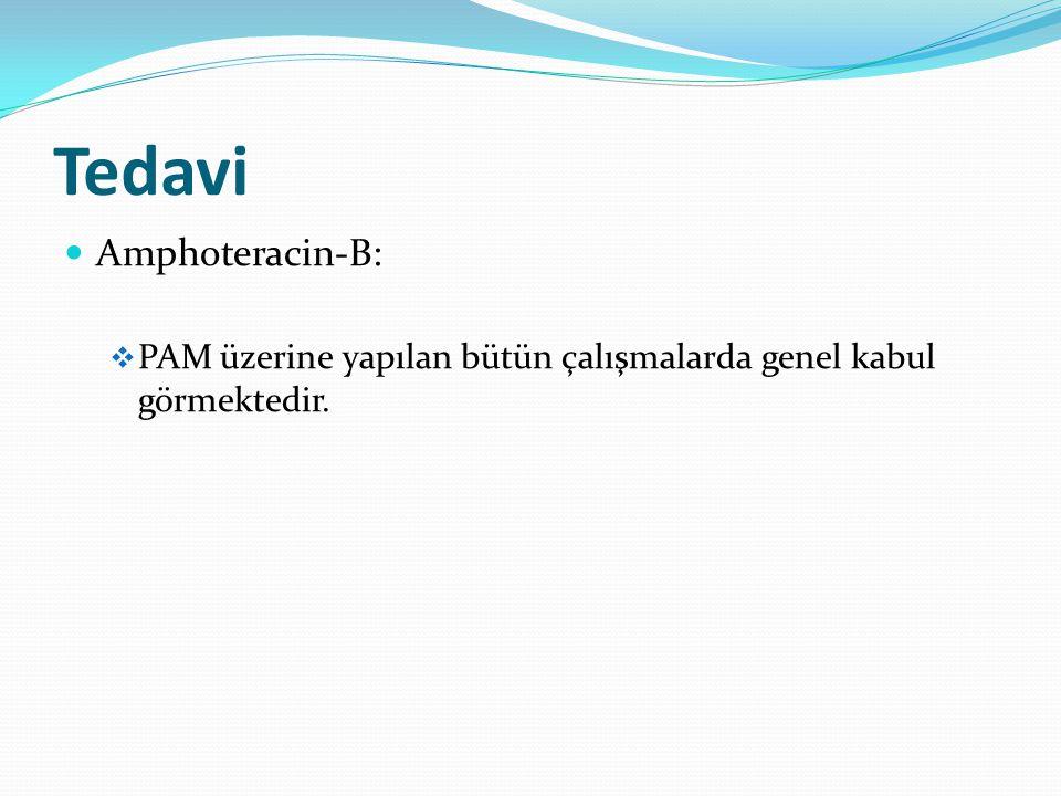Tedavi Amphoteracin-B:  PAM üzerine yapılan bütün çalışmalarda genel kabul görmektedir.