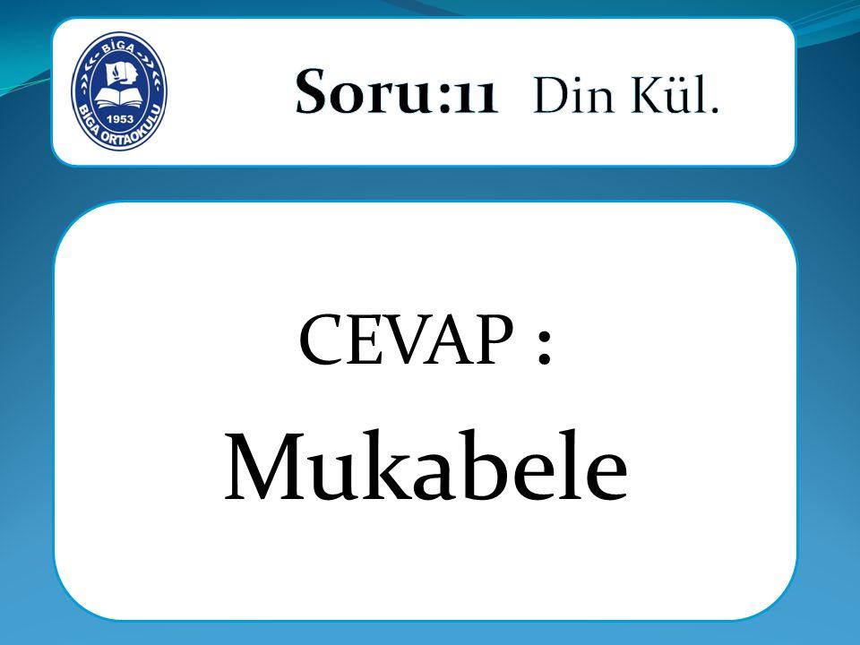 CEVAP : Mukabele
