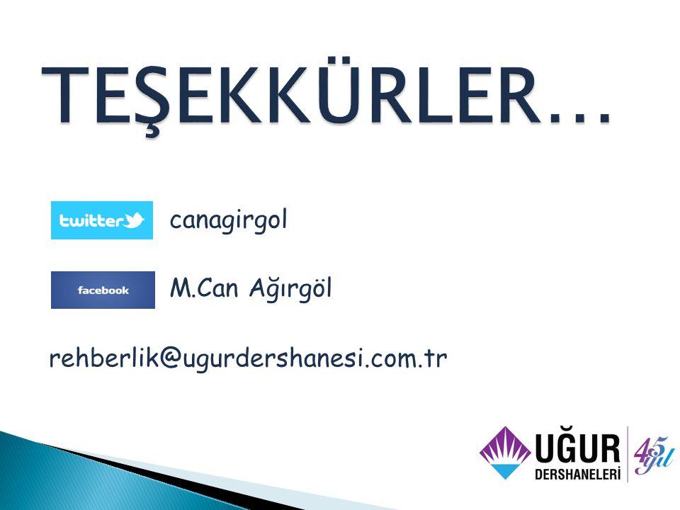canagirgol M.Can Ağırgöl rehberlik@ugurdershanesi.com.tr