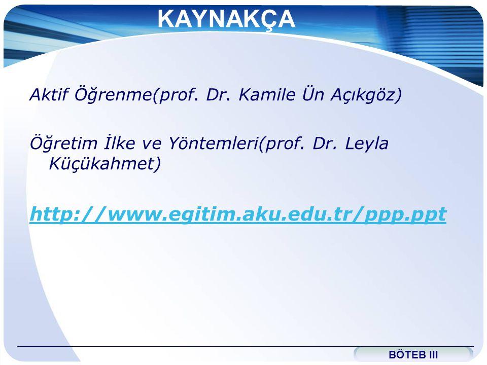 www.themegallery.com KAYNAKÇA Aktif Öğrenme(prof.Dr.