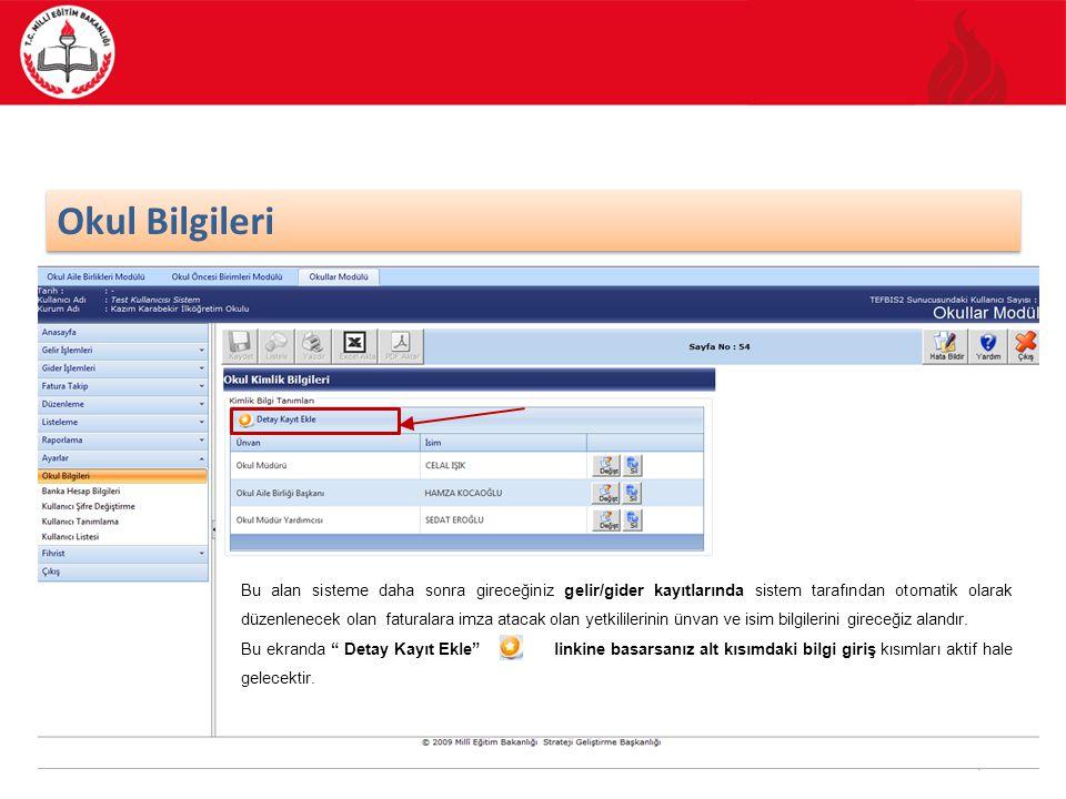 39/70 FATURA TAKİP Kullanmakta olduğunuz Okullar modülünün ana ekran görüntüsünden Fatura Takip işlemi seçilir ve Fatura İşlemleri kategorisi işaretlenir.