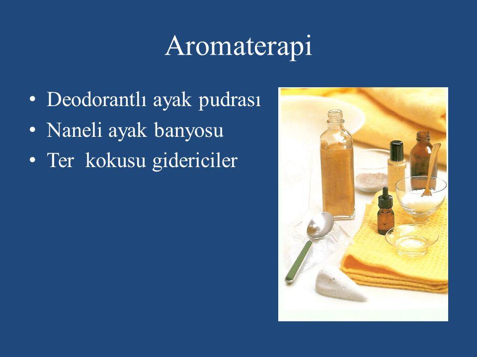 Aromaterapi Deodorantlı ayak pudrası Naneli ayak banyosu Ter kokusu gidericiler