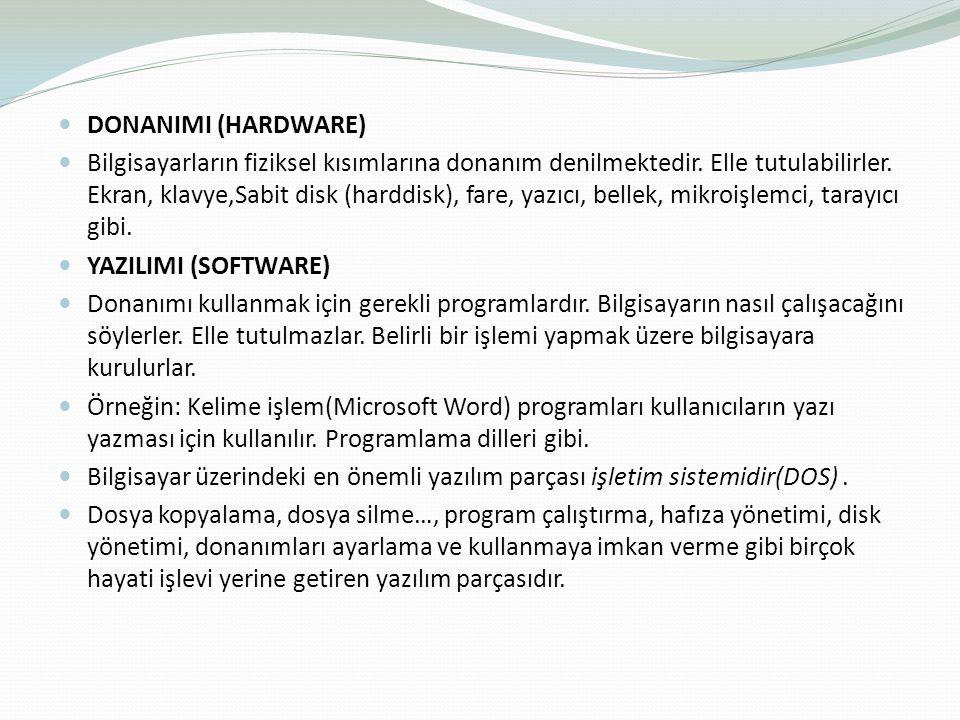 Windows98, Windows2000, WindowsXP, Windows2003, WindowsVista, Windows 7 çeşitli Linux sürümleri, Unix ve MacOS işletim sistemleri vardır.